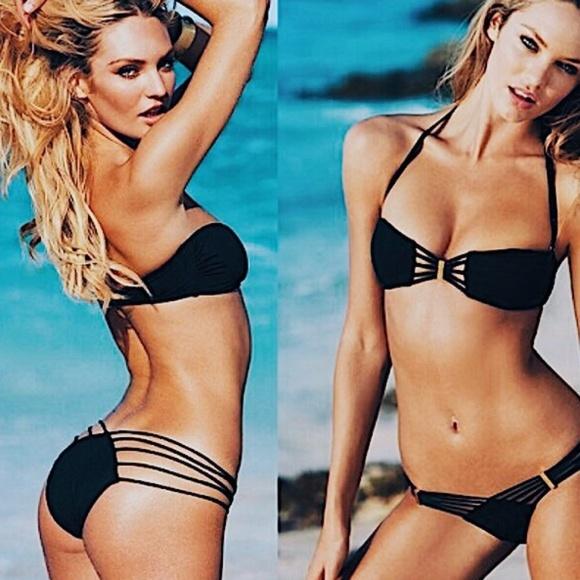 2950938a1145b ... Secret Black Strappy Bikini Bottom  . M 5a9948b872ea88fdd7af0124